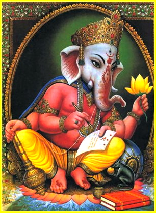Ganesha, writing