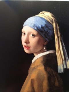 Johannes Vermeer Girl with a Pearl Earring (restored, yellowed lacquer removed, cracks painted over on top of new lacquer) (1665)