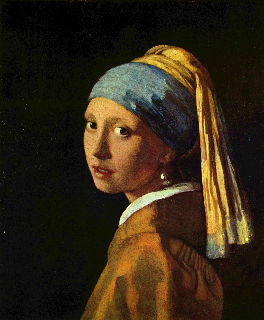 Johannes Vermeer Girl with a Pearl Earring (before restoration) (1665)