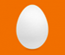 Default Twitter Egg Avatar, comes with different color backgrounds, though I don't know why