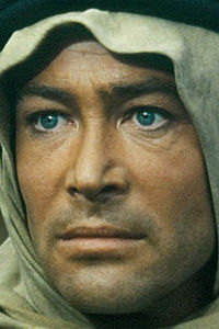 Legendary actor Peter O'Toole, as Lawrence of Arabia, in the David Lean film of the same name: the role that made O'Toole an international superstar.