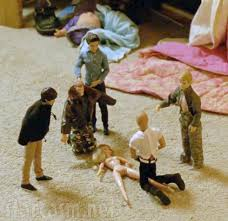 7-year-old Audrey's Barbie doll gang-rape scene, which Marty sees, frowns out, then goes and eats dinner