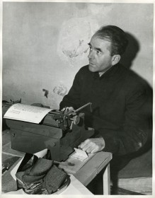 Nazi Defense Minister & close personal friend of Hitler's, Albert Speer, writing his memoirs from his Spandau prison cell
