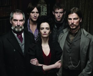 Cast of PENNY DREADFUL, from L to R: Timothy Dalton as Sir Malcolm Murray, Reeve Carney as Dorian Gray, Eva Green as Vanessa Ives, Harry Treadaway as Victor Frankenstein, Josh Harnett as Ethan Chandler
