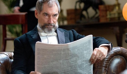 Timothy Dalton as Sir Malcolm Murray, searching for his lost daughter, Mina, taken by (unnamed) Dracula, called the Creature.
