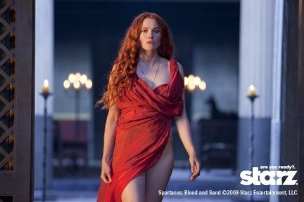 Lucy Lawless as Lucretia in SPARTACUS
