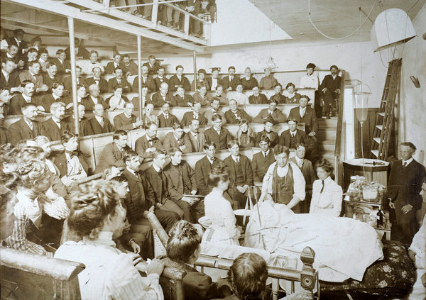 hospital operating theater c 1899 stanley b burns md burns archive