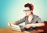 stock-photo-20291293-vintage-woman-writer