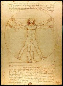 Leonardo's Vitruvian Man (ideal proportions) Wikipedia
